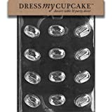 Dress My Cupcake DMCAO078SET Chocolate Candy Mold, Country Swirl, Set of 6