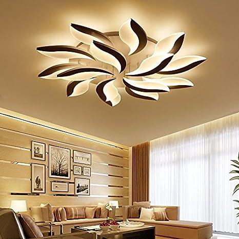 LPLFCeiling Modern simple lampara de salon de originalidad LED de luz de techo con turno estudio dormitorioBueno 108w 12 Iluminación de techo de ...