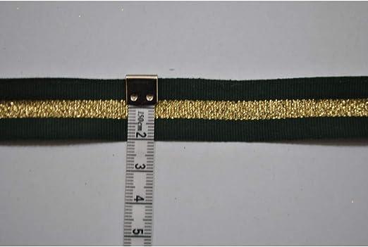 Cinta de algodón fila lurex top 15 mm x 1 metro - Verde: Amazon.es ...
