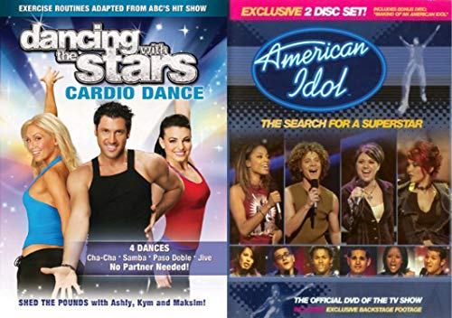 (Singing and Dancing Competitions DVD Bundle - American Idol Search for a Superstar 2-DVD Set & Dancing with the Stars Cardio Dance Collection )