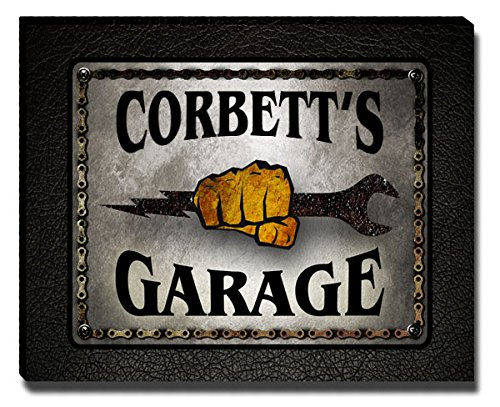 Corbett's Garage Mechanic Gallery Wrapped Canvas Print