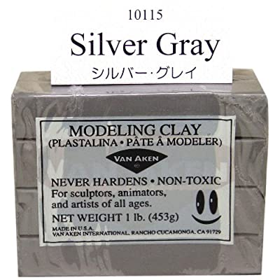Van Aken Plastalina Modeling Clay - Gray, 1 lb, Modeling Clay: Toys & Games