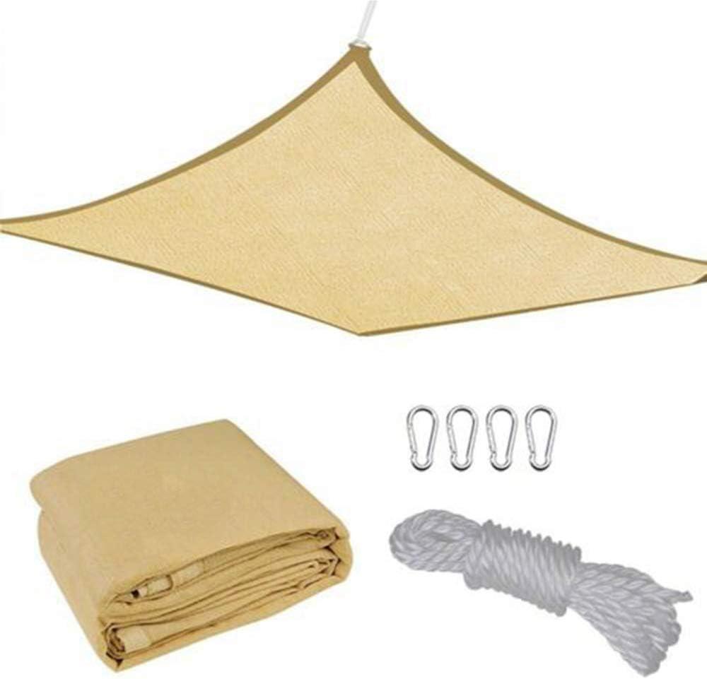 Sombrilla de Jardín Vela Hdpe Transpirable Protector Solar Toldo Cubierta del Toldo Protección Uv Transpirable para Patio Exterior Patio de Fiesta Bloque Uv - Rectángulo Cuadrado, Lona de Arena