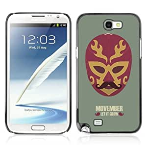 Designer Depo Hard Protection Case for Samsung Galaxy Note 2 N7100 / Cool Movember Mexican Mask