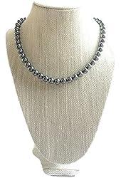 SPFJ AmanJul Silver Beaded Necklace