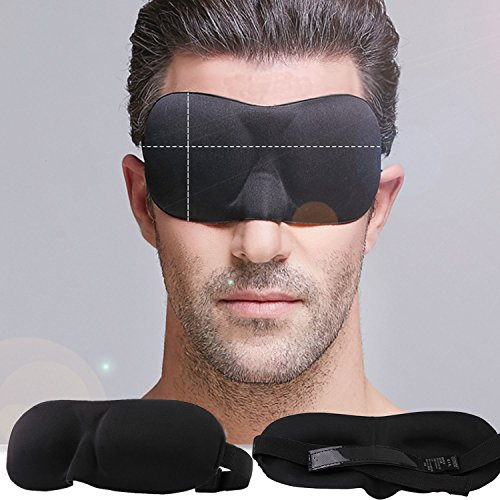 Price comparison product image NPLE--W 3D Eye Mask Soft Padded Sleep Travel Shade Cover Rest Relax Sleeping Blindfold