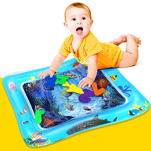 WILLUCK Baby & Infant Toys Inflatable Tummy Time Water Play Mat Sensory Newborn Toys Perfect Baby Toy for 3 4 6 9 to 12 Months Boy or Girl Best Gift Floating Toys