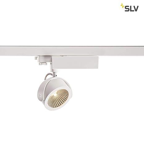 SLV Kalu Foco para arco alto voltaje de carril electrificado, aluminio, color blanco/