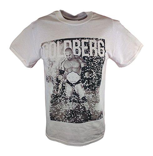Bill Goldberg Fireworks WWE Mens White T-shirt-M by Freeze