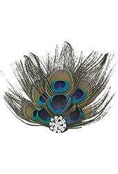 eFuture(TM) Retro Vintage Style Cute Party Peacock Feather Hair Clip Hair Pin +eFuture's nice Keyring