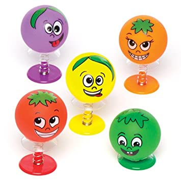 Baker Ross Saltarines con Caras de Frutas para niños Bolsas ...