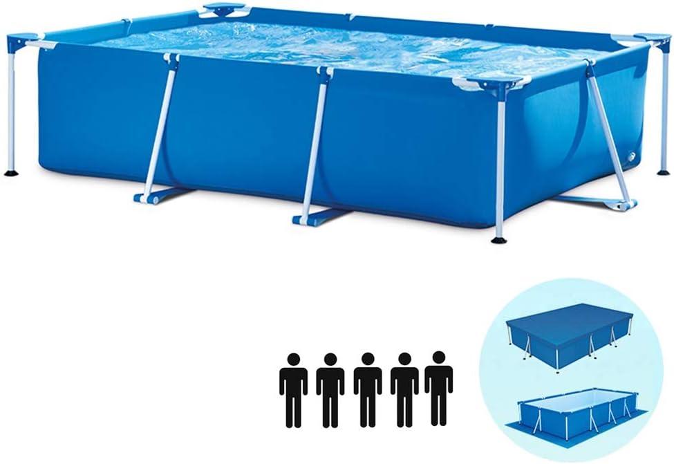 Nologo Piscina MM Piscina Familiar, Diseño Desmontable, Fácil De Instalar Y Almacenar, Piscina para Jardín De Gran Capacidad, 220x150x60cm (1600L)