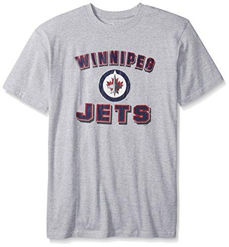 - NHL Winnipeg Jets Men's Short Sleeve Screen Print Tee, 3X, Heather Grey