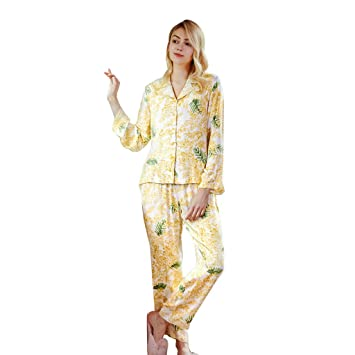 616212f79180 Sleepwear Women s Long Sleeve Pajamas Home Air Conditioning Wear ...