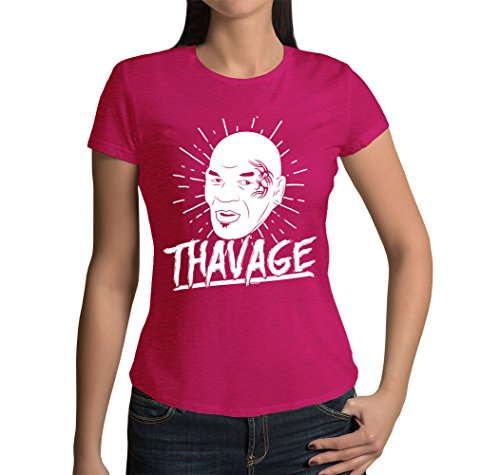 Junior's Thavage T-shirt (Pink, X-Large)