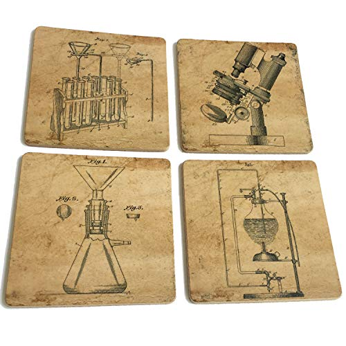 Science Lab Equipment Patent Art Prints Cork coasters for drinks - 4