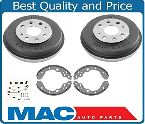 Mazda Protege Brake Drum - 1999-2003 Fits For Mazda Protege (2) Brake Drums Brake Shoes and Springs