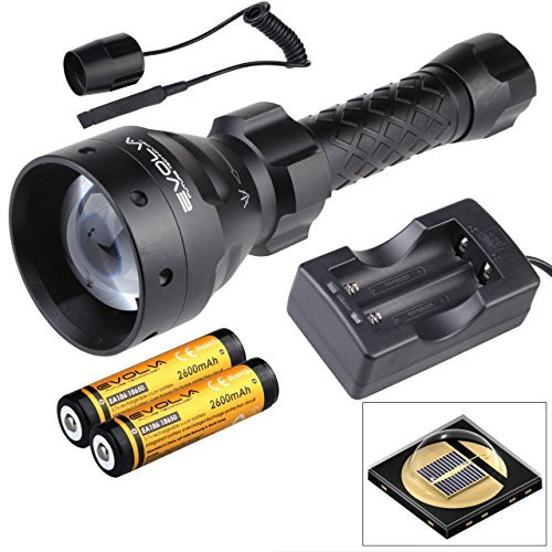 Evolva Future Technology Lens Infrared Flashlight IR T67 67mm Night Vision Torch Light - Infrared Light is Invisible to Human Eyes (Torch+Battery+Charger+Pressure Switch)