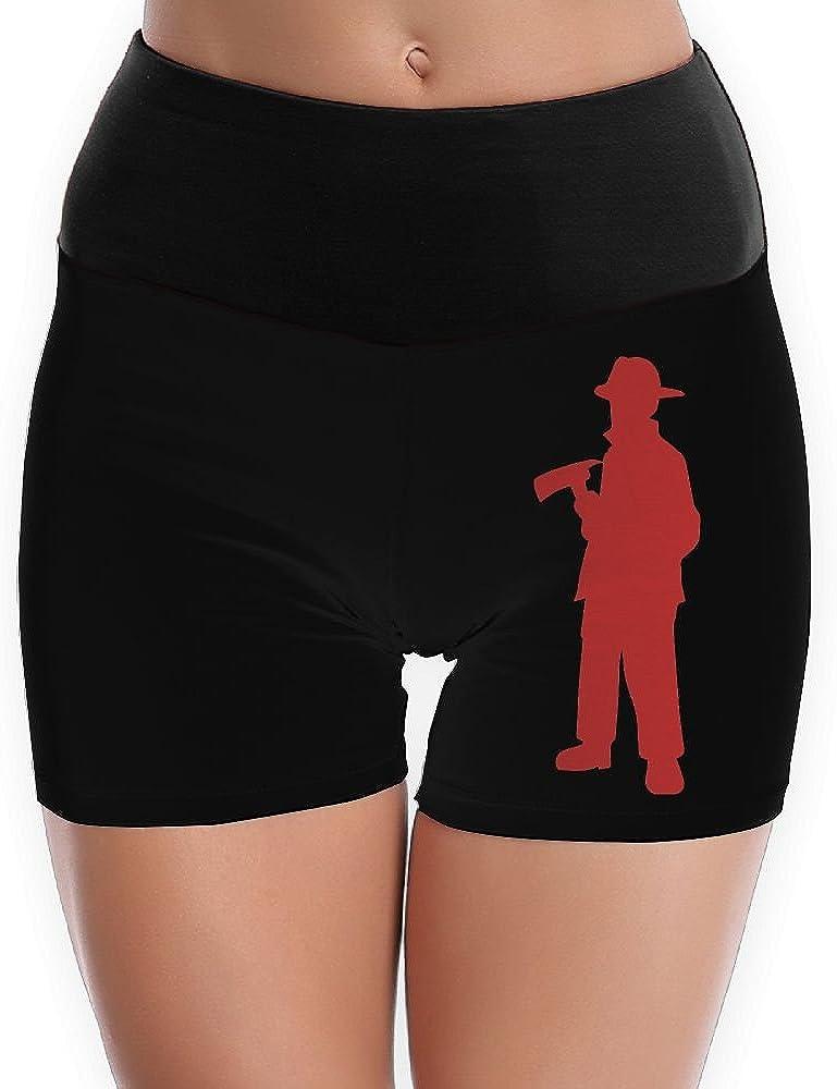 TTBYOGA Firefighter\nSilhouette Womens Power Flex Yoga Shorts Bike Running Yoga Shorts Underwear