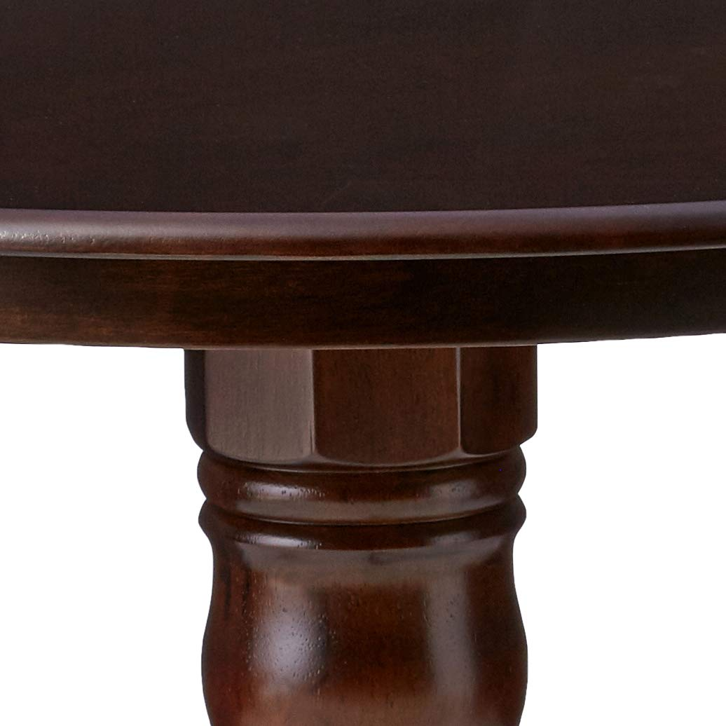 Brannan Round Single Pedestal Dining Table Cappuccino by Coaster Home Furnishings (Image #4)