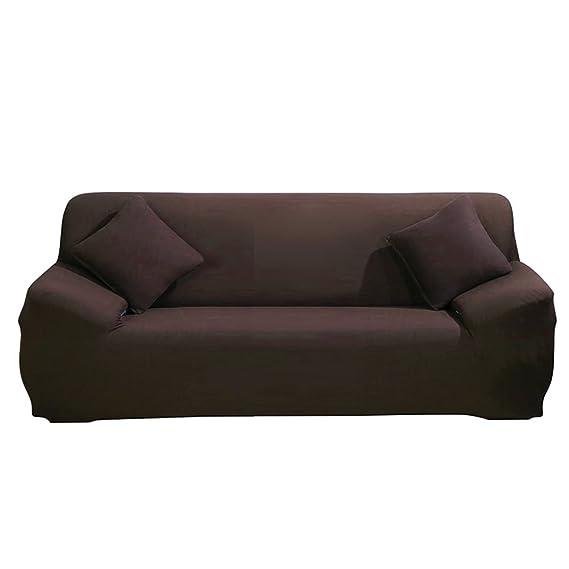 ParaCity elástico funda para silla 3 plazas tela funda protectora pantalla sillón funda protectora, café, 3 seater:185-230cm