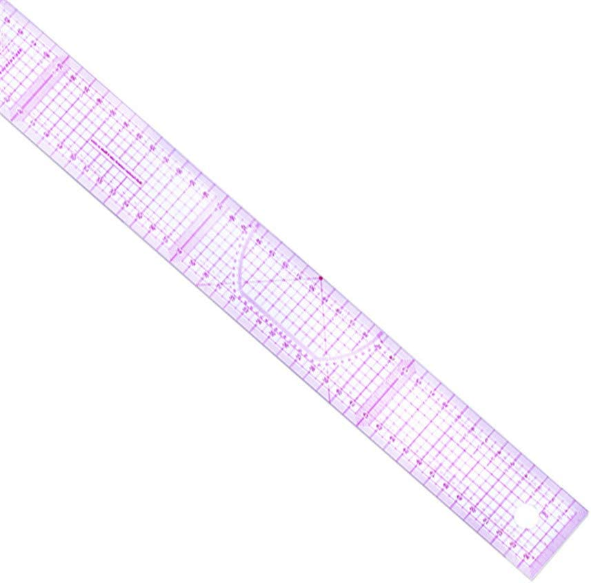 Professional Clothing Plastic Ruler Set French Curve Flexible Shaped Measure Ruler Kit Perfect Sewing Tools for Dressmaking Pattern DIY Clothing Bendable Drawing Template