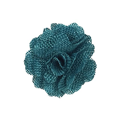 Allydrew Burlap Flower Embellishment Burlap Roses for Weddings (20pcs), Teal