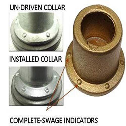 BTC5-R8GAHL, Huck, Huck Bobtail Lockbolt Collar, [1/4] .250 Diameter, Flng Collar W/Tablock, Steel Gr5/Zinc CLR Finish
