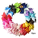 10pcs/Pack Ribbon Bow Hair Clip Alligator Clips Party Hair Bowknot Barrettes for Baby Girls Toddlers Kids