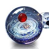 Pavaruni Galaxy Pendant Necklace, Universe Ball Glass,Starry sky Jewelry, Space Cosmos Design,Birthday (Morpheus)