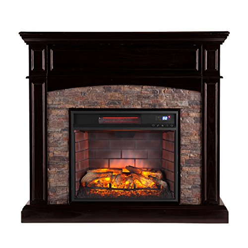Southern Enterprises Grantham Corner Infrared Electric Media Fireplace 45