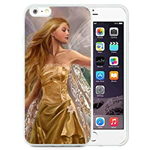 Beautiful And Unique Designed With Fairy Girl Wings Flowers Field Bird (2) For iPhone 6 Plus 5.5 Inch TPU Phone Case