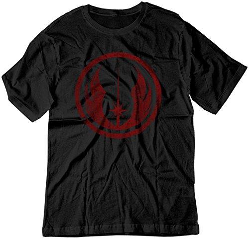 8a1a39e802f19 BSW Men's Star Wars Jedi Order Vintage Style Logo Shirt XL Black