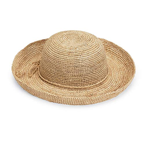 Wallaroo Hat Company Women's Catalina Sun Hat - Handwoven Twisted Raffia Sun Hat, Natural