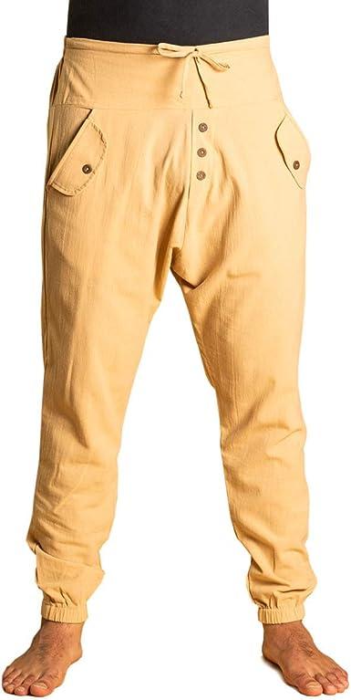 Panasiam - Pantalones de yoga, cómodos pantalones de estilo Aladín y harén, 100 % algodón preencogido, unisex para él y ella: Amazon.es: Ropa y accesorios