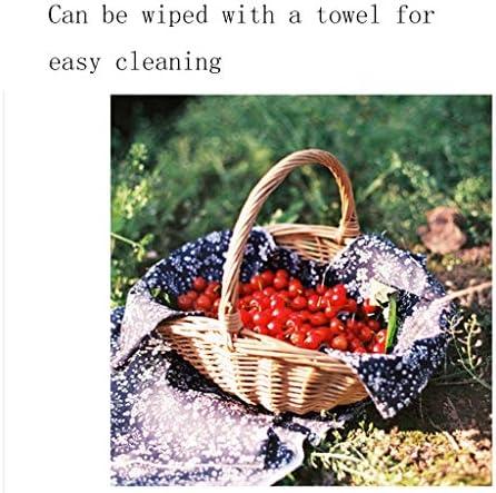 HLD Tessuti a Mano Truciolo di Legno Bagagli Cesto di Frutta e Verdura Cestino di Picnic del Cestino di immagazzinaggio Cestino a Mano Gift Box Cestino da Picnic (Size : L)