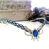 Blue Fairy Oracle Gem Circlet Tiara Crown Celtic Weave Gold or Silver