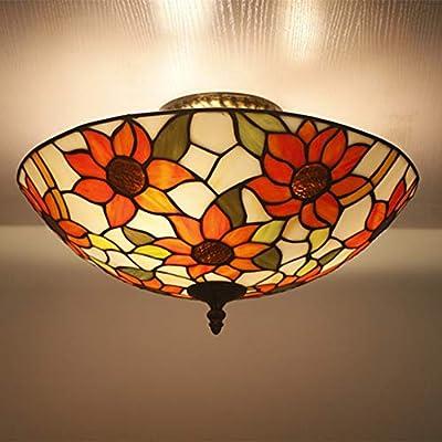 Lámpara de Tiffany Juego de Girasoles Apliques de Pared ...