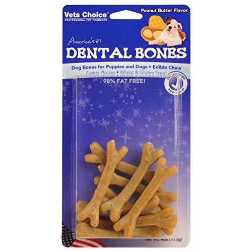 Health Extension Dental Bone, Peanut Butter, 6-Pack (Choice Vets Dental Bones)