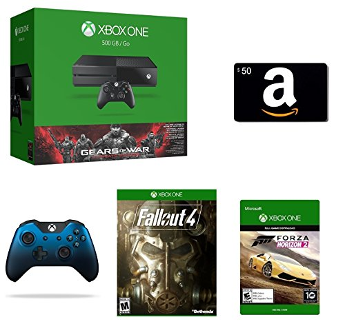 Xbox One 500GB Console Gears of War: Ultimate Edition Bundle + $50 Amazon Gift Card [Physical Card] + Fallout 4...
