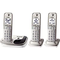 Panasonic KX-TGD213N Expandable Digital Cordless Phone with 3 Handsets (Certified Refurbished)