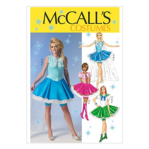 McCall's Pattern M7101 D5 Misses' Petticoat Dress, Cape, Sailor Collar and Shorts SEWING PATTERN, Size 12-20