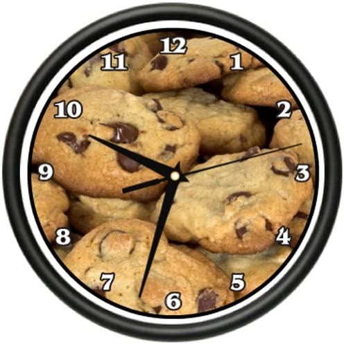 Chocolate CHIP Cookies Wall Clock Bakery Pastry Cookies Cookie Gift