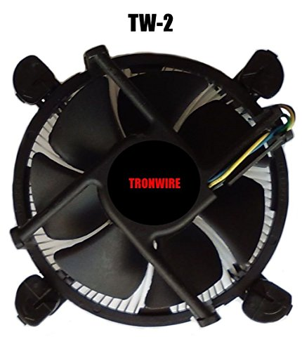 TRONWIRE TW-2 Intel Core i3 / i5 / i7 Socket 1156/1155 / 1151/1150 4-Pin Connector CPU Cooler Aluminum Heatsink & 3.5-inch Fan Pre-Applied Thermal Paste Desktop PC Computer by TronStore (Image #2)