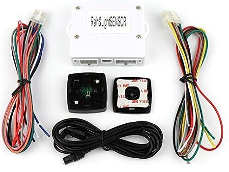 Universal automático coche sensor de lluvia y Sensor de luz Kit 2 en 1 Sensor: Amazon.es: Coche y moto