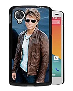 Beautiful Designed Cover Case With Bon Jovi Glasses Haircut Jackets Look For Google Nexus 5 Phone Case