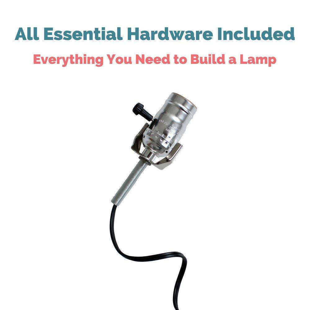 Lamp Base Socket Kit Electrical Wiring Set For Making Repairing Antique And Repurposing Lamps