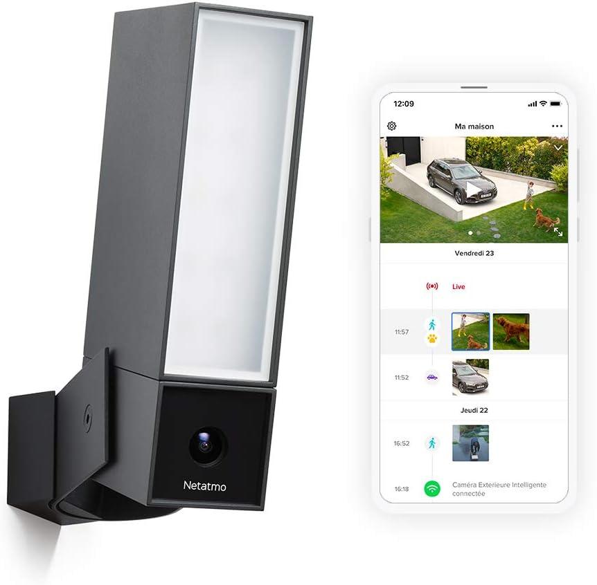 Netatmo Caméra de Surveillance Extérieure Intelligente avec éclairage intégré Presence Sécurité, Détection...