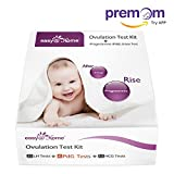 Easy@Home New FDA Registered 6 Progesterone (PdG) Test, 25 Ovulation (LH) Test and 15 Pregnancy (hCG) Combo Urine Test Strips Kit, More Reliable Fertility and Ovulation Tracking Home Test Ki