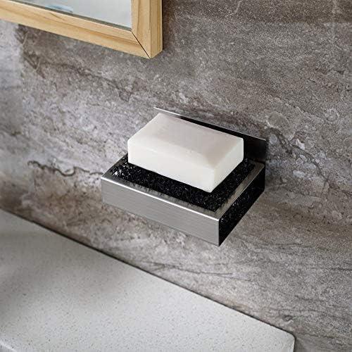 304枚のステンレス鋼の皿3Mグルー壁掛け設置非多孔質ステンレス鋼グリップ浴室ペンダントキッチンの装飾のバスルーム